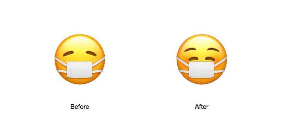 蘋果最新的表情符號表明,你可以戴上面具,也能感到快樂