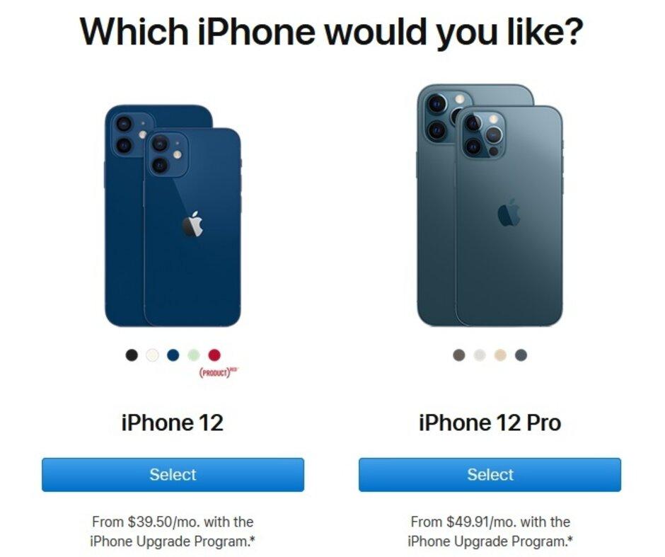 蘋果升級計劃的會員購買5G iPhone 12 mini或iPhone 12 Pro Max的第一步